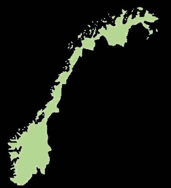 Norwegia mapa
