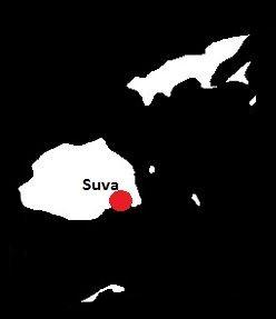 Fidżi mapa