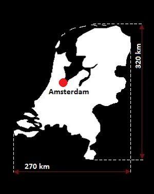 Holandia mapa