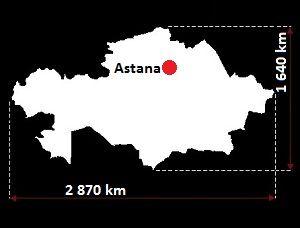 Kazachstan mapa
