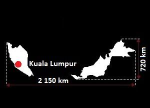 Malezja mapa