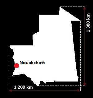 Mauretania mapa