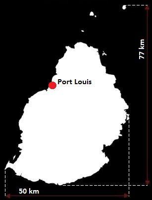 Mauritius mapa