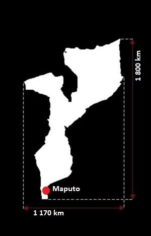 Mozambik mapa