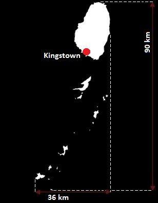 Saint Vincent i Grenadyny mapa