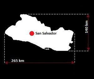 Salwador mapa