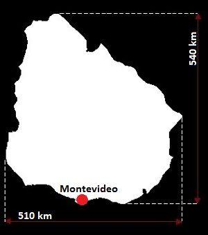Urugwaj mapa