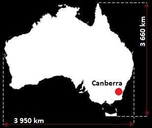 Canberra mapa