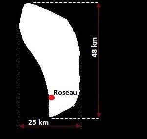 Roseau mapa