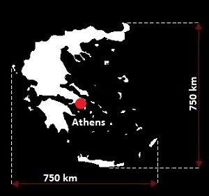 Ateny mapa