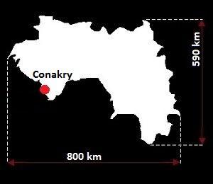 Konakry mapa