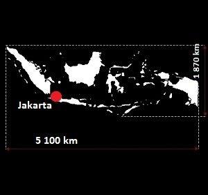 Dżakarta mapa