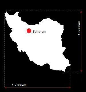 Stolica Iranu - mapa