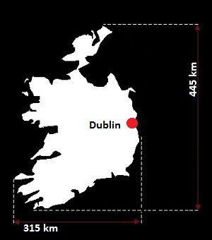 Stolica Irlandii - mapa