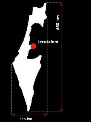 Stolica Izraela - mapa