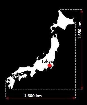 Stolica Japonii - mapa