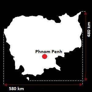 Stolica Kambodży - mapa