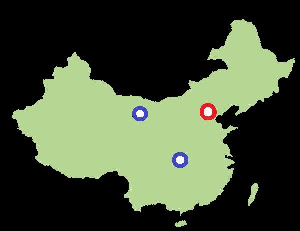 Chiny mapa