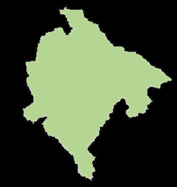 Czarnogóra mapa