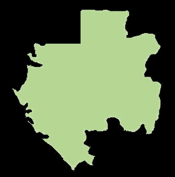 Gabon mapa