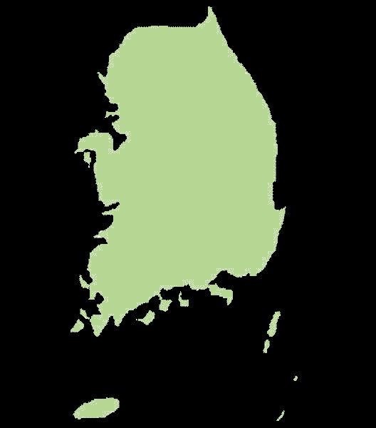 Korea Południowa mapa