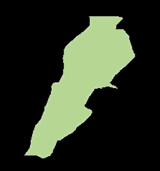 Liban mapa