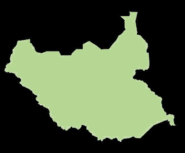 Sudan Południowy mapa