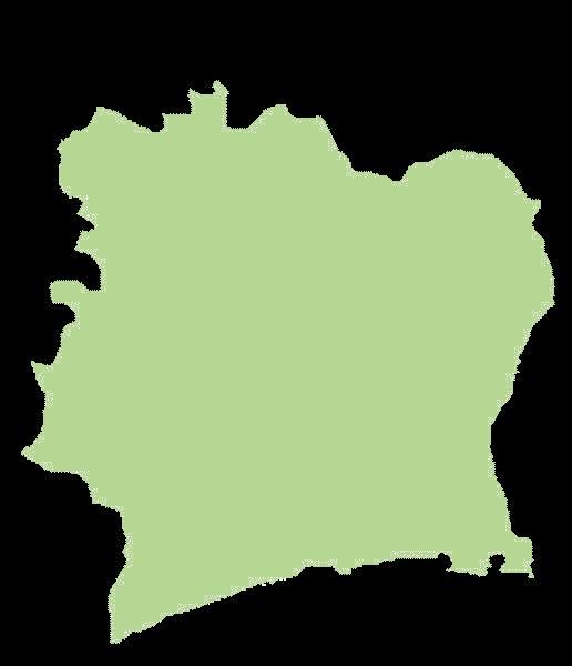 wybrzeże kości słoniowej mapa