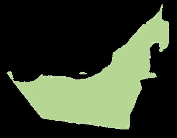 Zjednoczone Emiraty Arabskie mapa