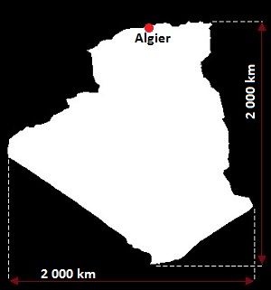 Algieria mapa