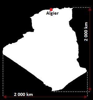 mapa Algierii