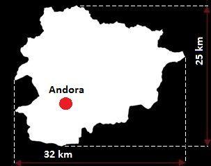 Andora mapa