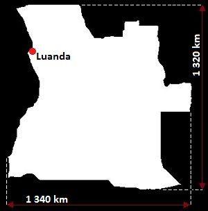 Angola mapa