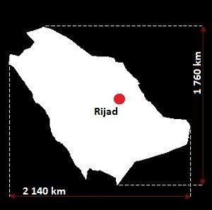 mapa Arabii Saudyjskiej