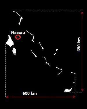 Bahamy mapa