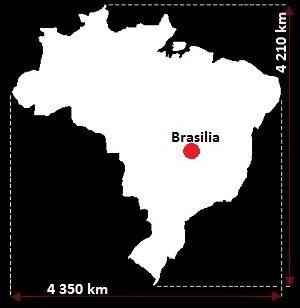 mapa Brazylii