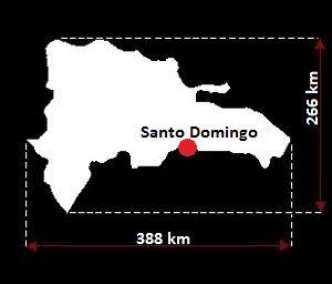 Dominikana mapa
