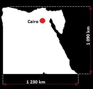 Egipt mapa