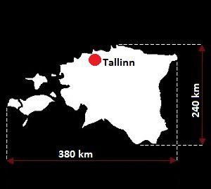 mapa Estonii