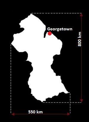 Gujana mapa