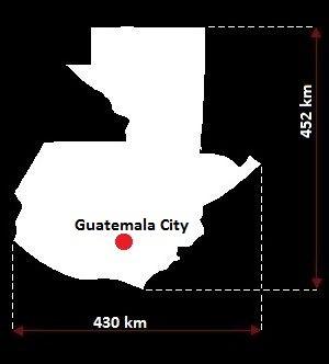 Gwatemala mapa
