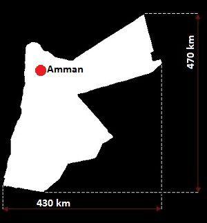 Jordania mapa