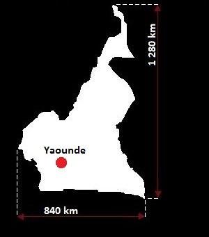 mapa Kamerunu