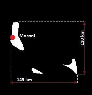 mapa Komorów