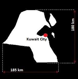 mapa Kuwejtu