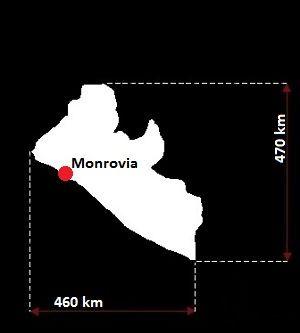 Liberia mapa
