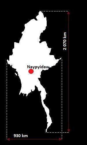 Mjanma mapa