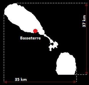 Saint Kitts i Nevis mapa