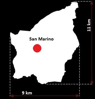 San Marino mapa