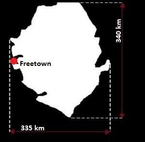 mapa Sierra Leone